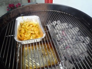 Indirect grillen - scampi