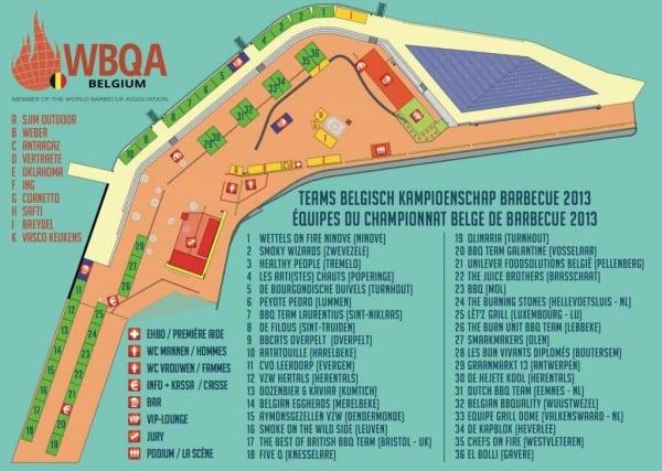 BK BBQ Oostende 2013 - Plan