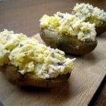 Gevulde aardappel met roomkaas