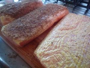 Bobby Flay's cedar smoked salmon