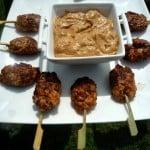 Vietnamese garnalenlolly's met pindasaus